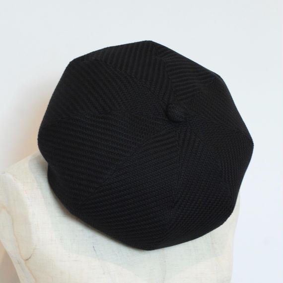mitake/big beret(black)