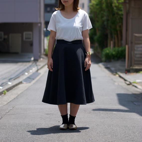 紡ぐストーリー。/カモメ貝フレアスカート(black)