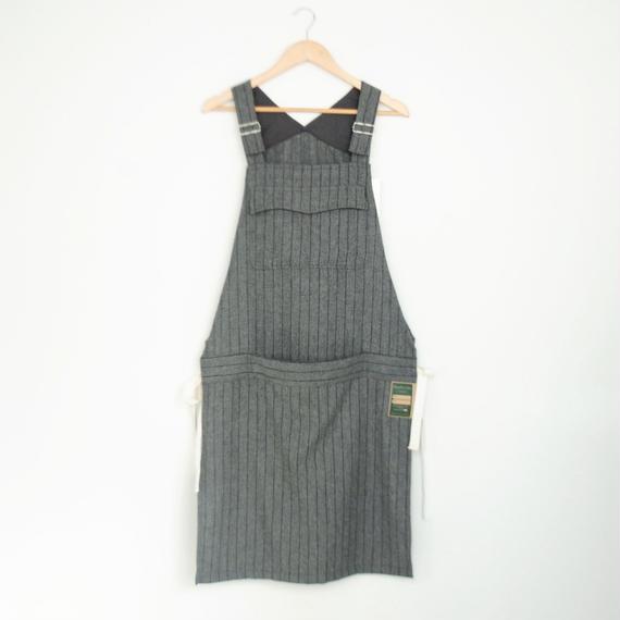 ASEEDONCLOUD ・Handwerker/Work Apron   wool stripe(gray)