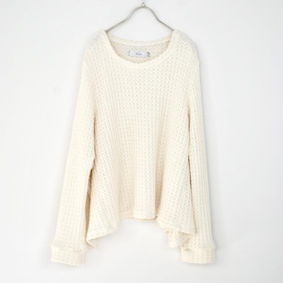 3tsui/ゆったりニットプルオーバー(off-white)