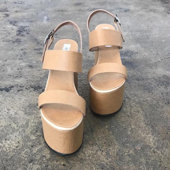 KOSHIRO EBATA/paper platform sandal
