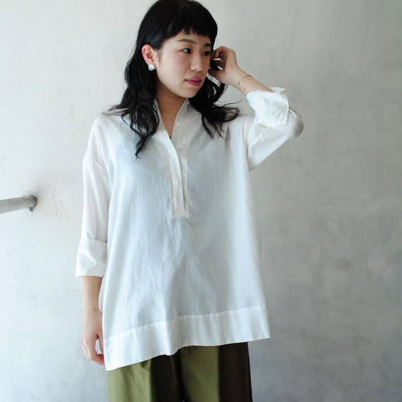 hatsutoki/ツイルプルオーバー(white)
