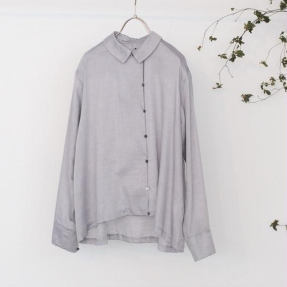 hatsutoki/コットンツイルシャツ(gray)