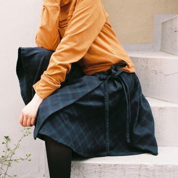 3tsui/サイドリボンのサーキュラースカート