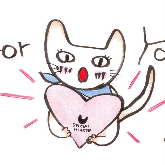 ポストカード10枚セット「ネコ:foryou」