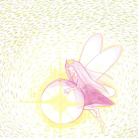 ポストカード10枚セット「光る水晶と妖精」