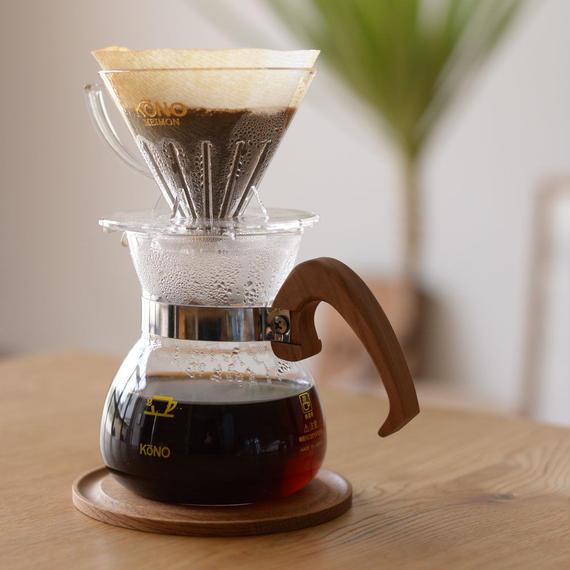 KONO|Coffee Dripper Set [WOOD] - 2人用