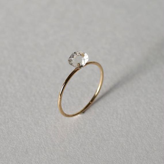 ハーキマー ダイヤモンドリング