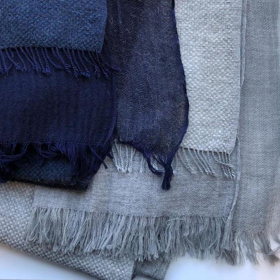 "-NEW- Wool/Alpaca/Casimere ""FUTAMATA"" stole"