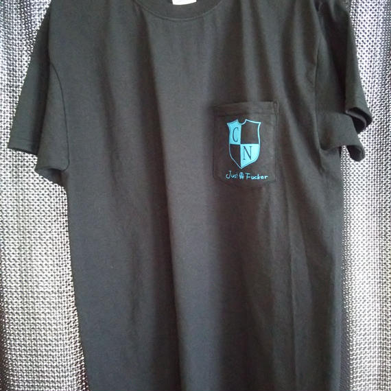 JUST A FUCKER Pocket T-shirt (BLACK)