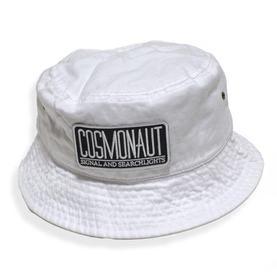 LOGO BUCKET HAT WHITE
