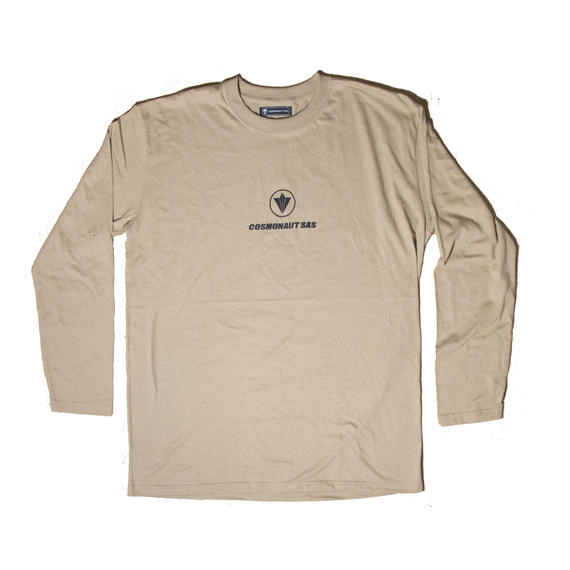 CIRCLE LOGO UNISEX LONG SLEEVE TEE SAND KHAKI