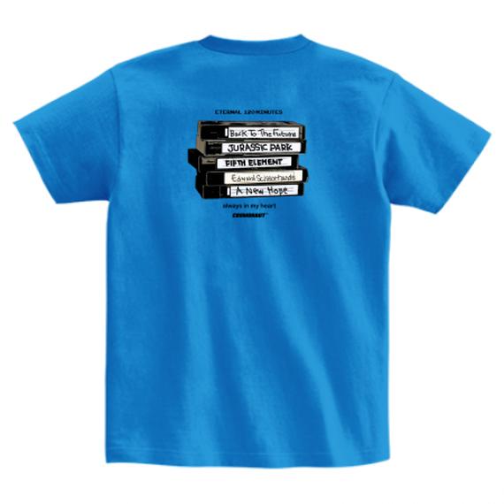 VHS MEMORIES TEE BLUE