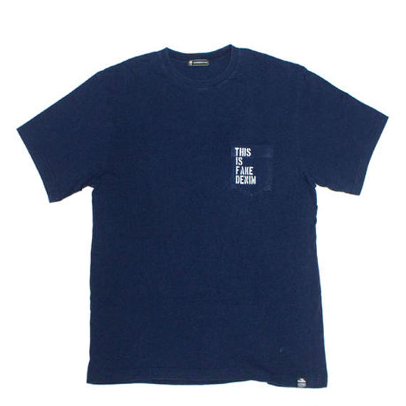 THIS IS FAKE DENIM DARK INDIGO POCKET TEE