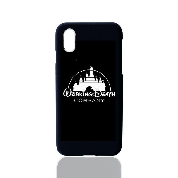 WORKING DEATH iPhone Case BLACK