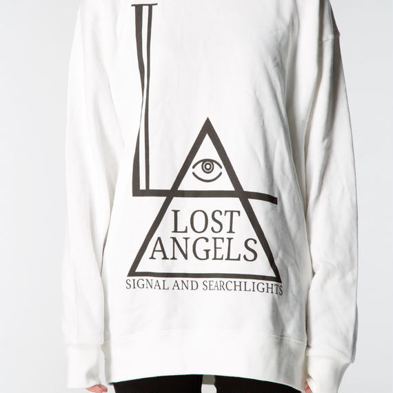 LOST ANGELS UNISEX SWEATSHIRT WHITE