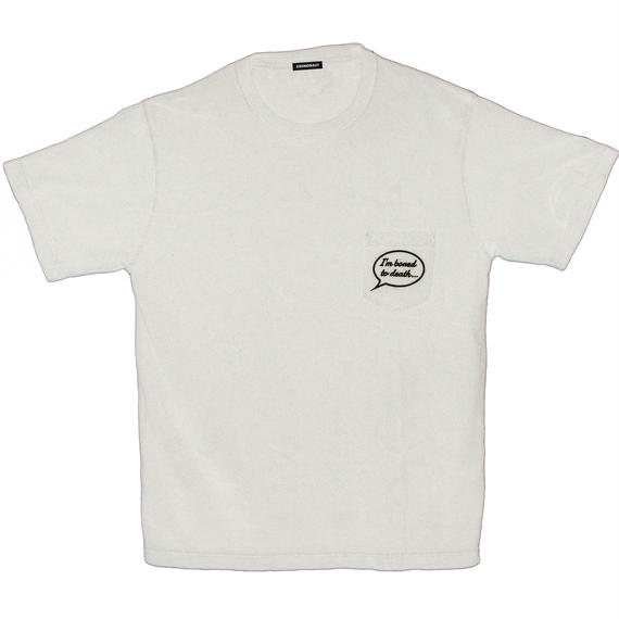 I'M BONED TO DEATH... PIGMENT DYE POCKET TEE OFF WHITE