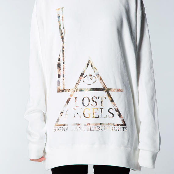 "LOST ANGELS ""Fallen"" UNISEX SWEATSHIRT WHITE"