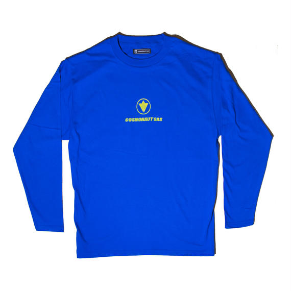 CIRCLE LOGO UNISEX LONG SLEEVE TEE ROYAL BLUE