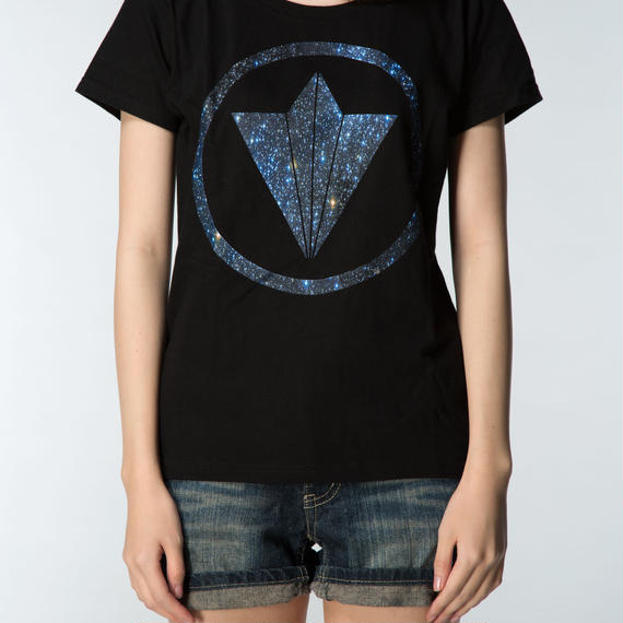 "CIRCLE LOGO ""STAR"" GIRLS TEE BLACK"