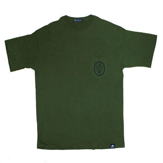 CIRCLE LOGO BIG SILHOUETTE POCKET  TEE