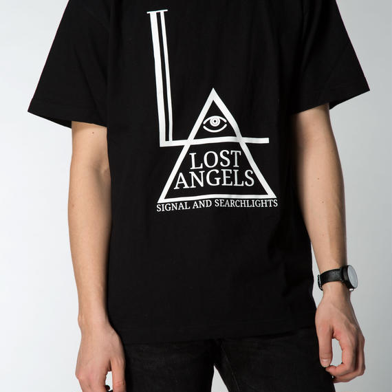 LOST ANGELS MENS TEE BLACK