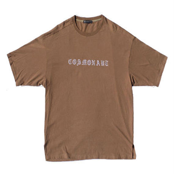 OLD ENGLISH LOGO BIG SILHOUETTE UNISEX TEE KHAKI