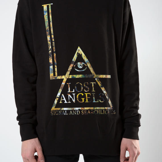 "LOST ANGELS ""Fallen"" UNISEX SWEATSHIRT BLACK"