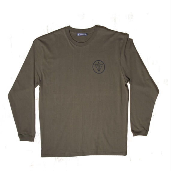 CIRCLE UNISEX LONG SLEEVE TEE KHAKI