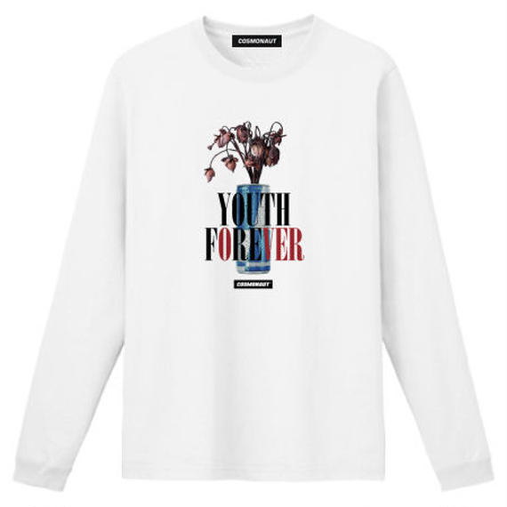 YOUTH FOREVER WITH THE ENERGY DRINK L/S TEE WHITE