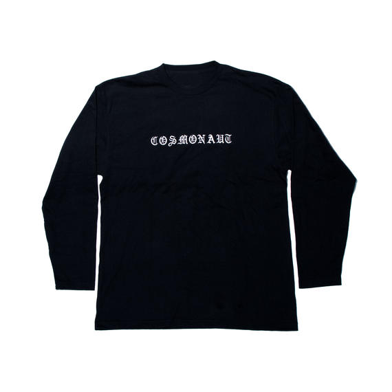 OLD ENGLISH LOGO UNISEX LONG SLEEVE TEE BLACK