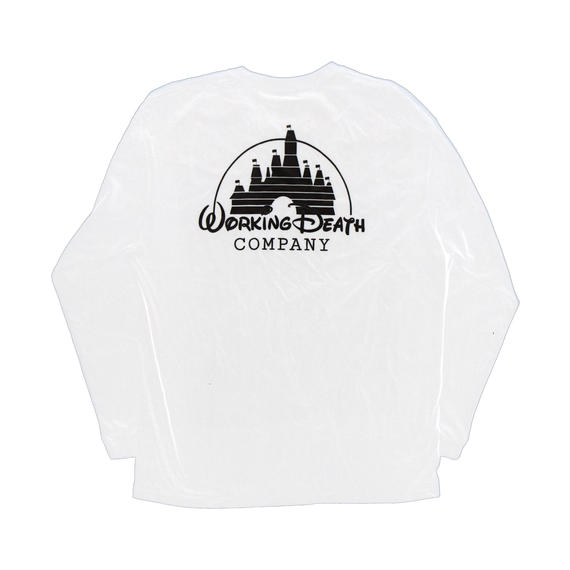 WORKING DEATH UNISEX LONG SLEEVE TEE WHITE