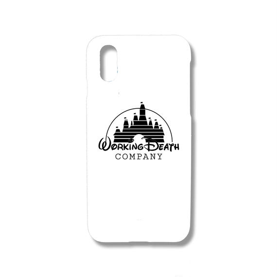 WORKING DEATH iPhone Case WHITE