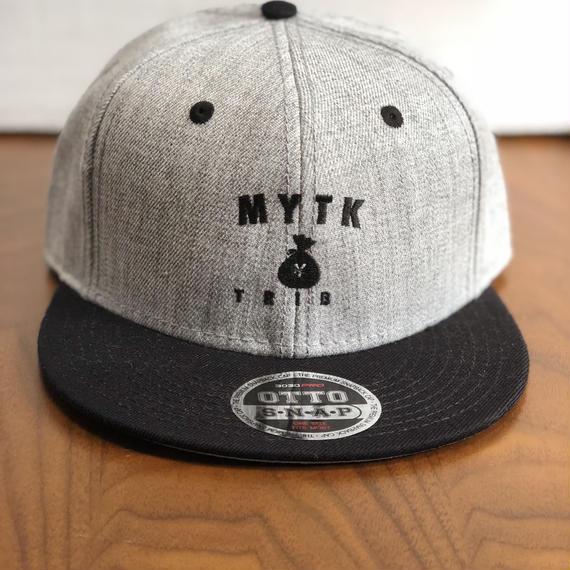 MYTK ヘザーウールブレンド ベースボールCAP(ヘザーグレー&ブラック)