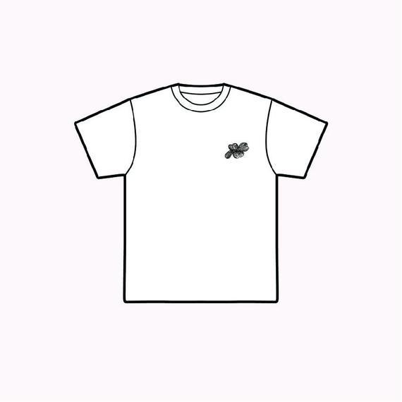 「hanamizuki」半袖プリントTシャツ