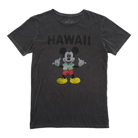 HANG LOOSE MICKEY TEE   (BLACK)No.118