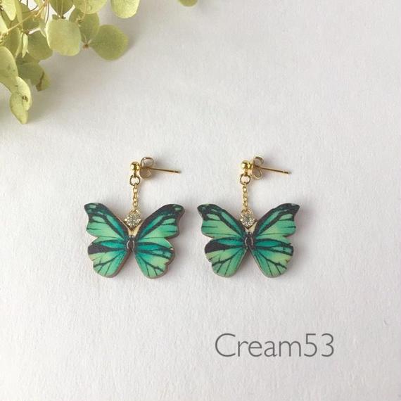 蝶① イヤリングorピアス
