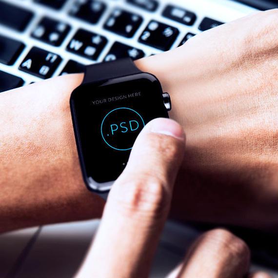 Apple Watch PSD MockUp 3