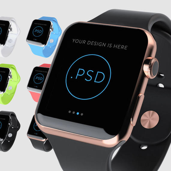 Apple Watch PSD MockUp 1