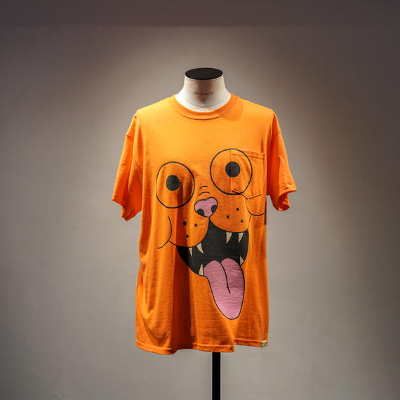 FRITZ THE POCKET TSHIRT by GANGSTER DOODLES  (ORANGE)【CC0006】