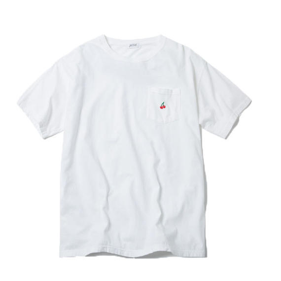CHERRY BOY POCKET TSHIRT (WHITE)【CC18SS-030】