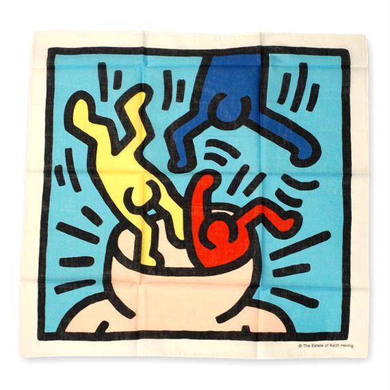 Keith Haring Bandana Blue【KH-004】