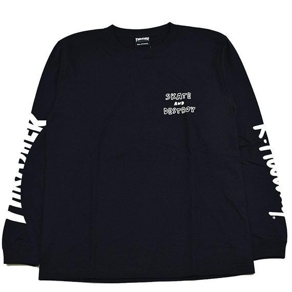 Keith Haring × THRASHER 35th Long Sleeve T-shirt Black【KH-035】