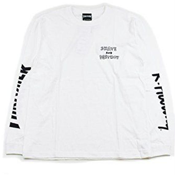 Keith Haring × THRASHER 35th Long Sleeve T-shirt White【KH-034】