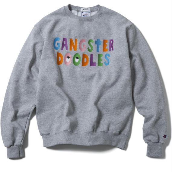GANGSTER DOODLES CREWNECK (GREY) :  ARTWORK by GANGSTER DOODLES【CC17AW-016】