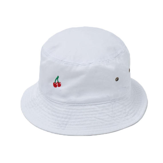 CHERRY BOY BUCKET HAT  (WHITE)【CC18SS-033】