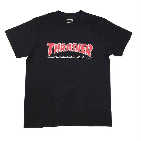 "Keith Haring × THRASHER Unisex T-Shirts ""Skater "" Black【KH-040】"