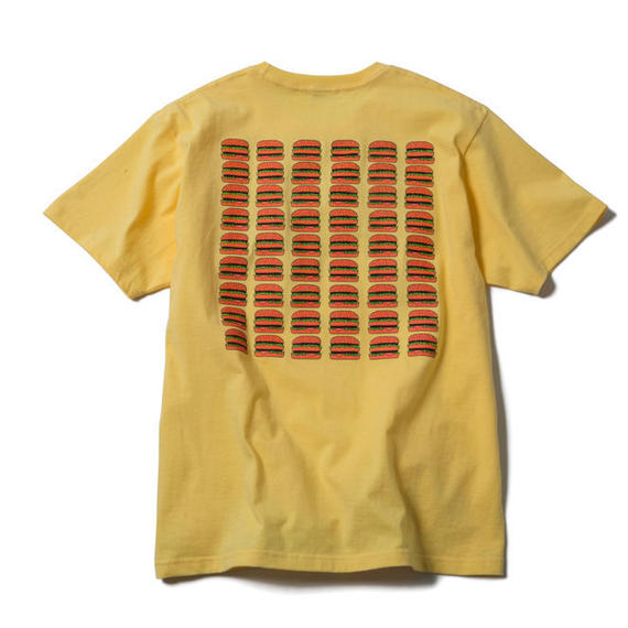 CHEESE BURGERS TEE (LIGHT YELLOW) : GANGSTER DOODLES【CC17AW-002】