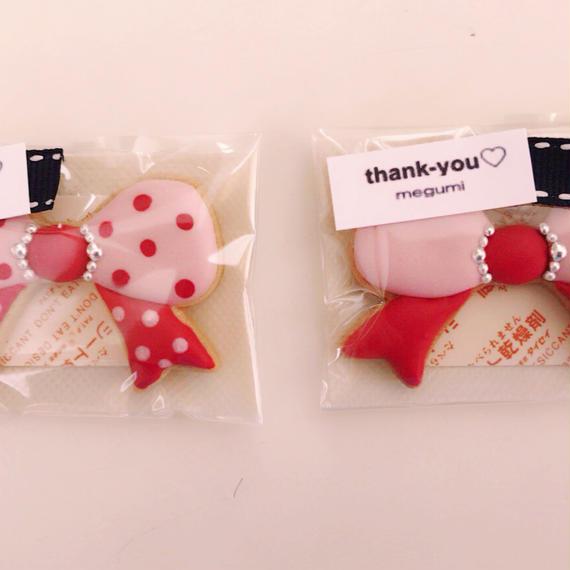 ピンクドット柄リボン(2枚)