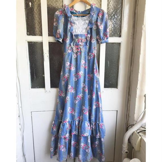 1970's Pansy Print Dress